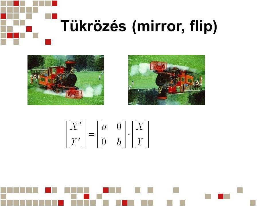 Tükrözés (mirror, flip)
