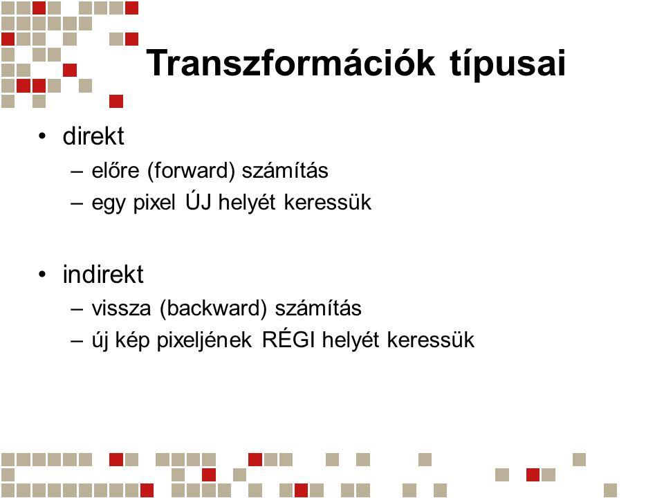 Transzformációk típusai