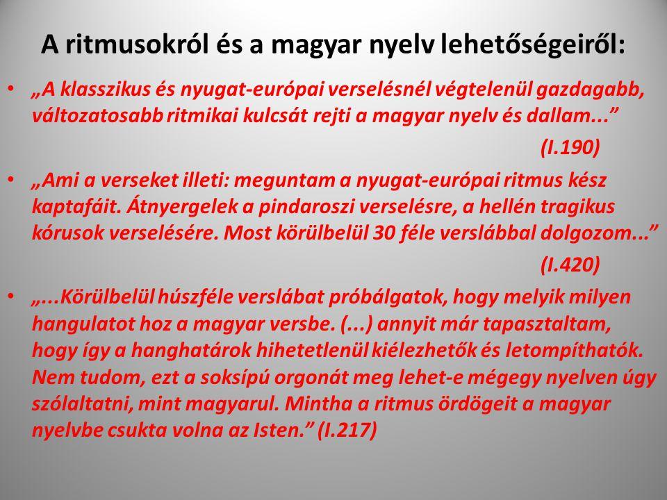 A ritmusokról és a magyar nyelv lehetőségeiről: