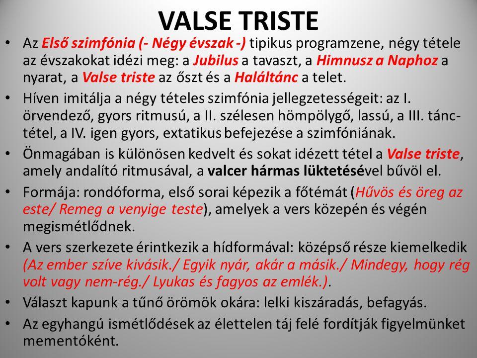 VALSE TRISTE