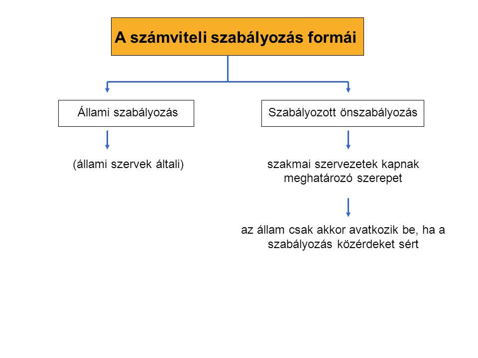A számviteli szabályozás formái
