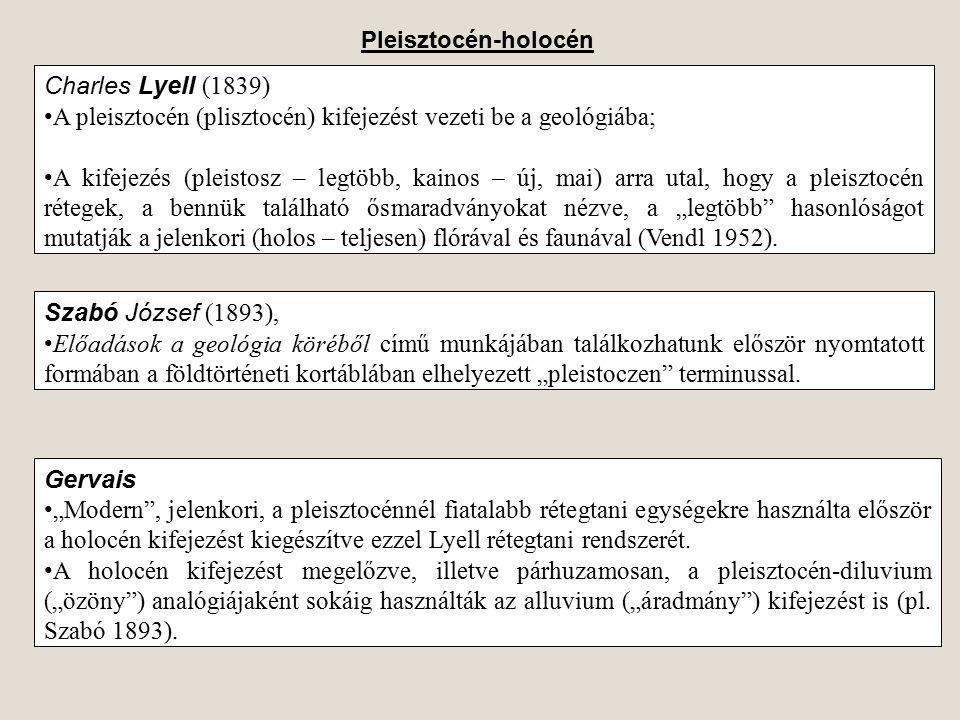 A pleisztocén (plisztocén) kifejezést vezeti be a geológiába;