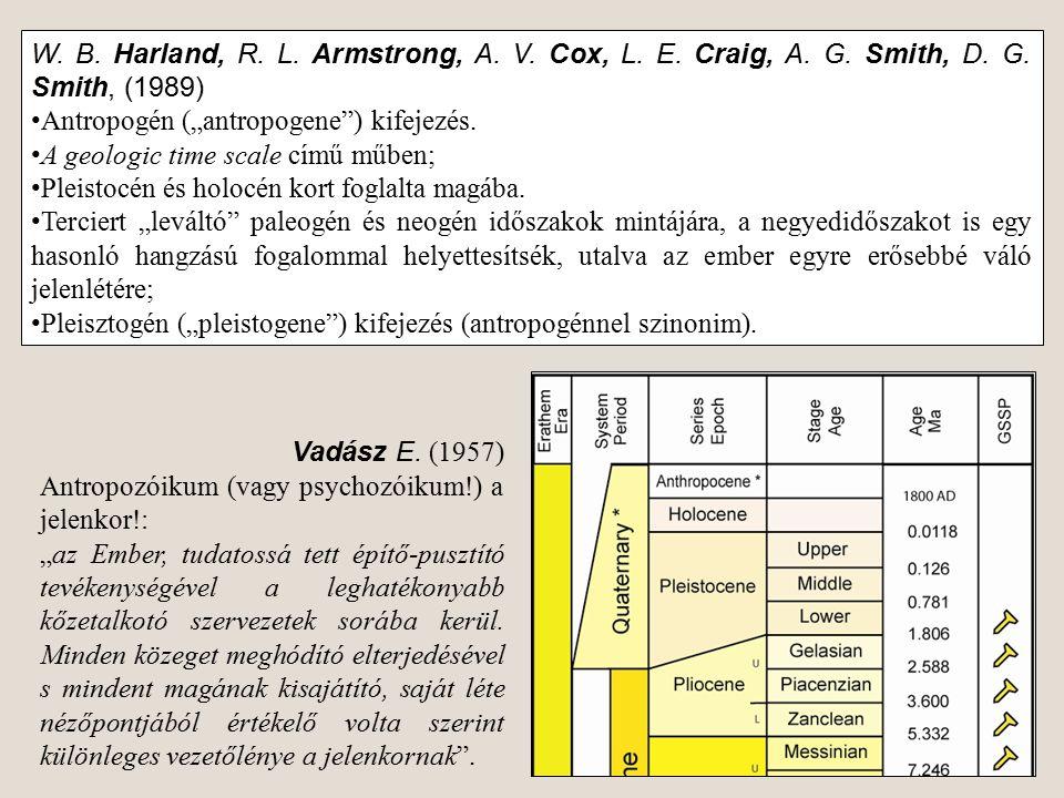 W. B. Harland, R. L. Armstrong, A. V. Cox, L. E. Craig, A. G. Smith, D