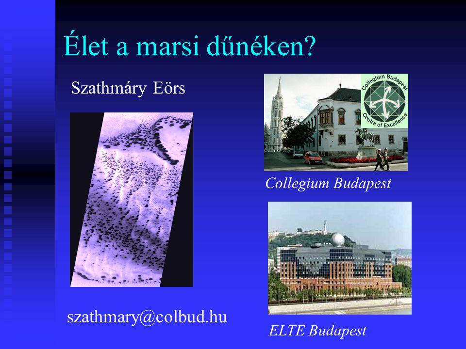 Élet a marsi dűnéken Szathmáry Eörs szathmary@colbud.hu