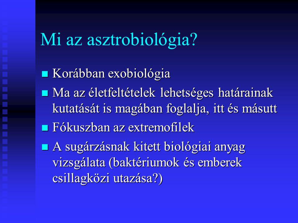 Mi az asztrobiológia Korábban exobiológia
