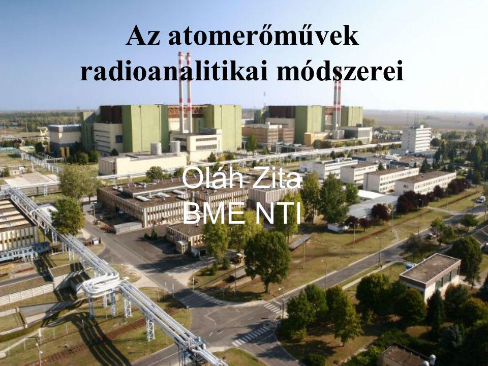 Az atomerőművek radioanalitikai módszerei Oláh Zita BME NTI