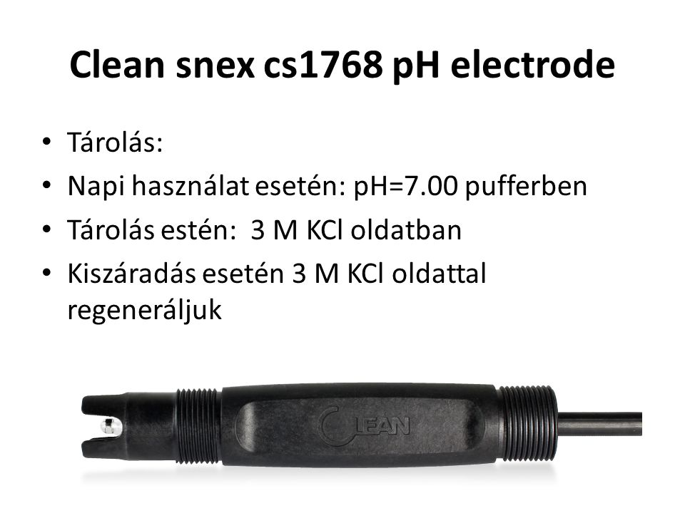 Clean snex cs1768 pH electrode