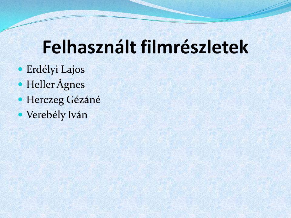 Felhasznált filmrészletek