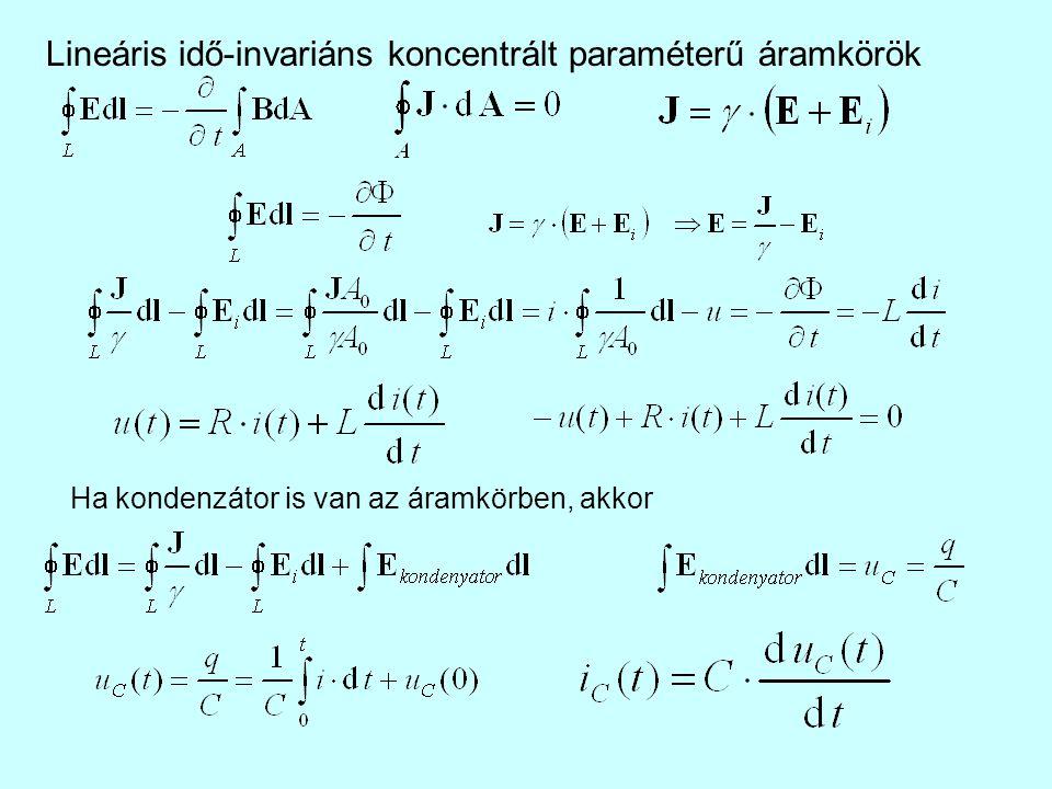 Lineáris idő-invariáns koncentrált paraméterű áramkörök