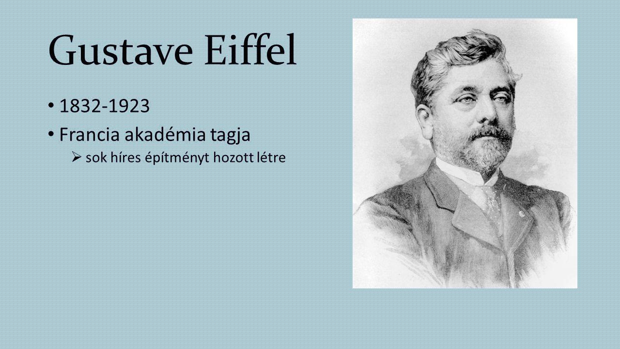 Gustave Eiffel 1832-1923 Francia akadémia tagja