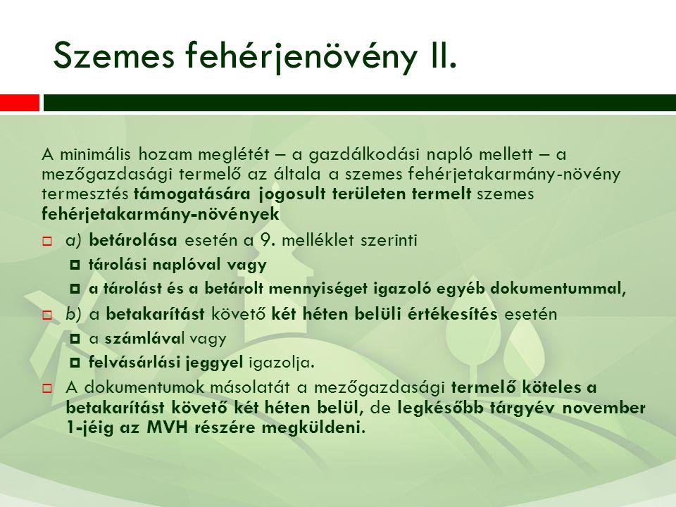 Szemes fehérjenövény II.