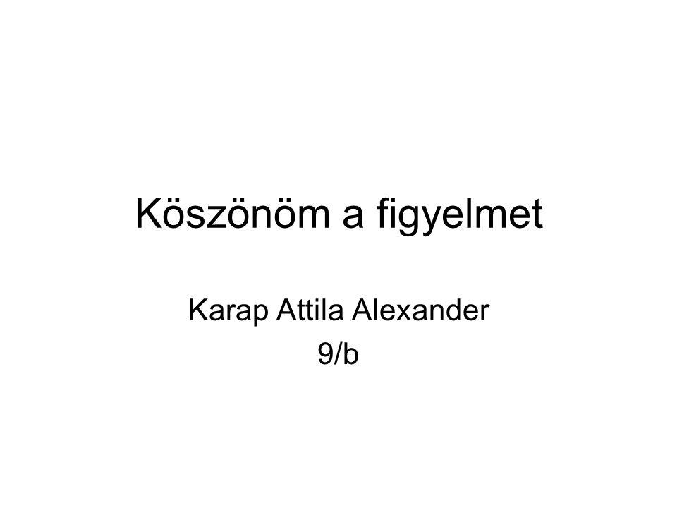 Karap Attila Alexander 9/b