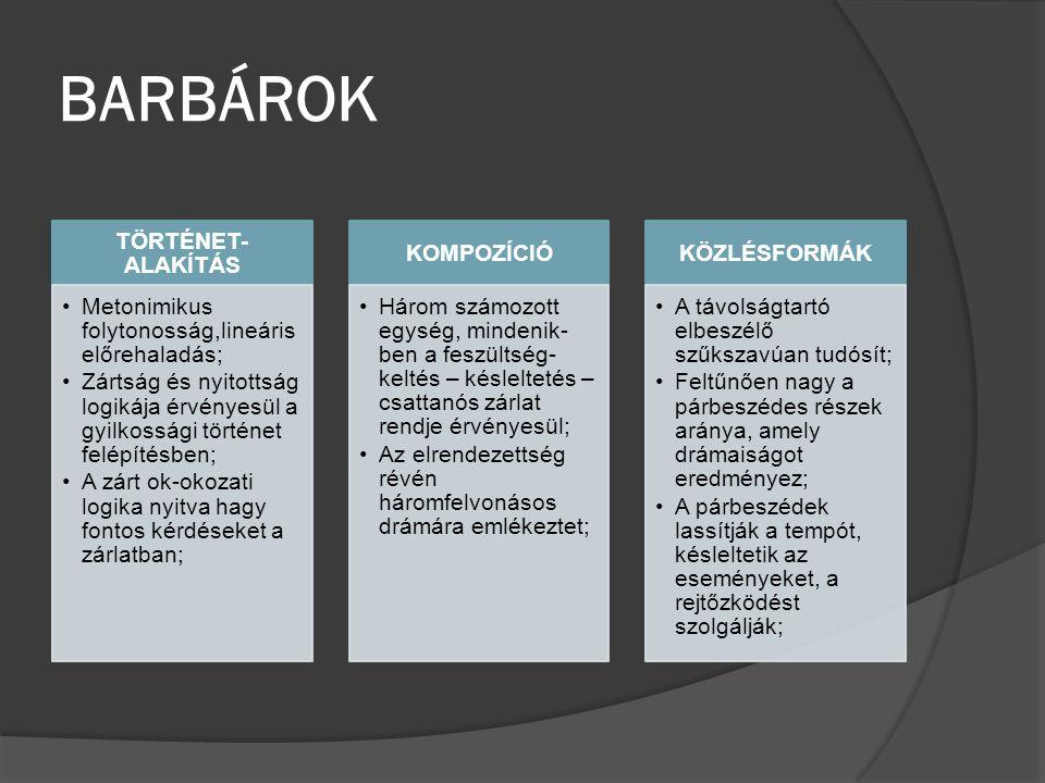 BARBÁROK TÖRTÉNET-ALAKÍTÁS