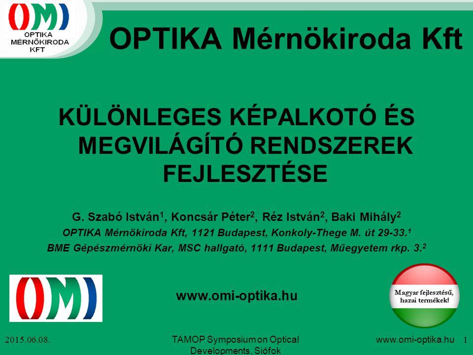 OPTIKA Mérnökiroda Kft