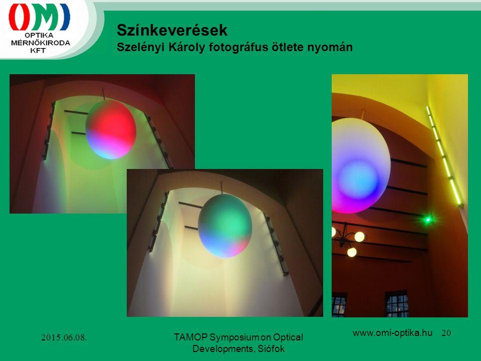 TAMOP Symposium on Optical Developments, Siófok