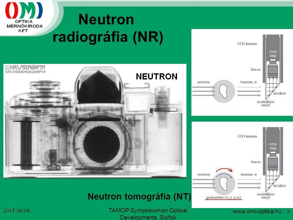 Neutron radiográfia (NR) Neutron tomográfia (NT)