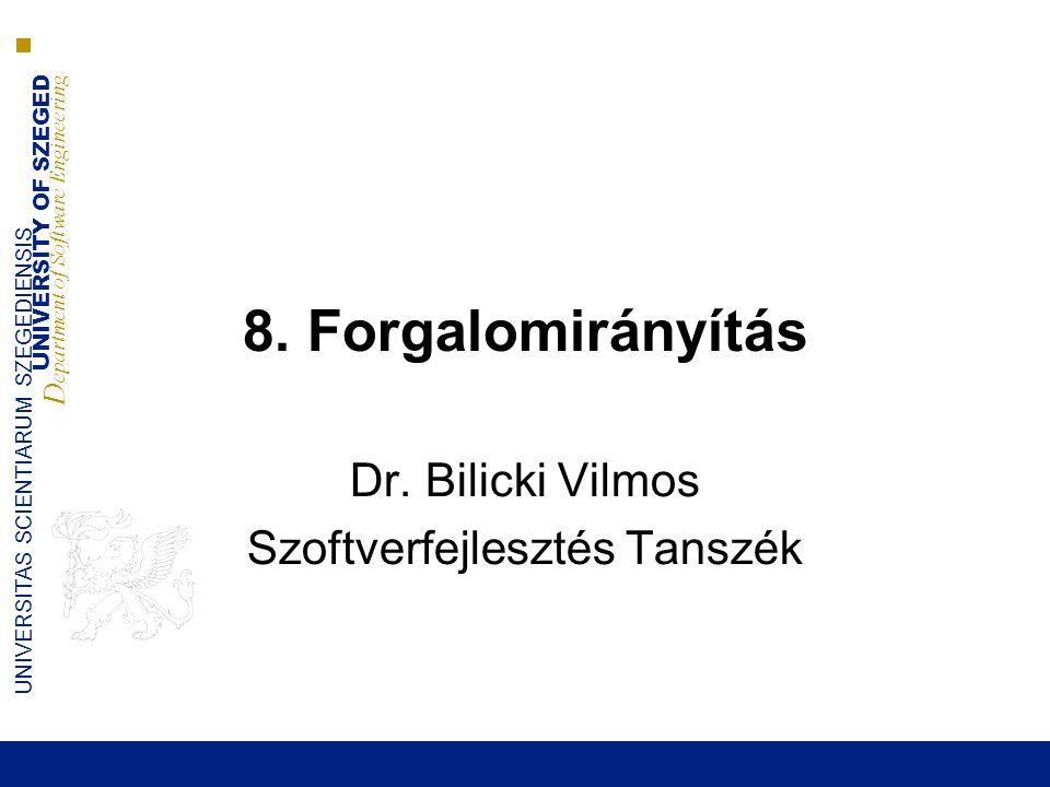 Dr. Bilicki Vilmos Szoftverfejlesztés Tanszék
