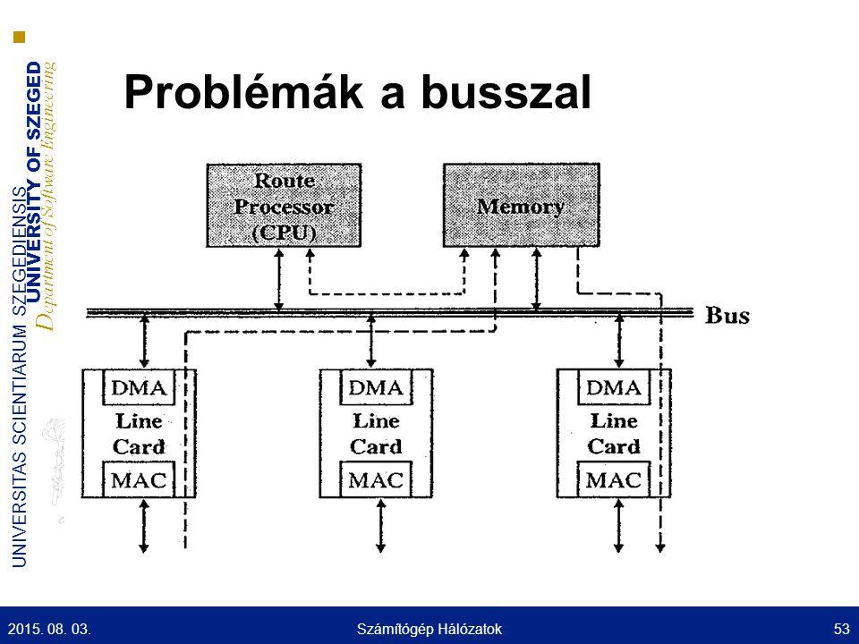 Problémák a busszal Az adat kétszer halad át rajta