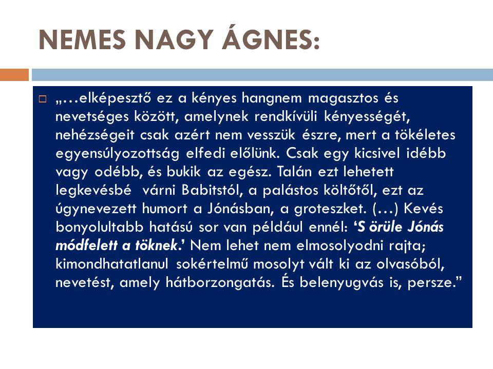 NEMES NAGY ÁGNES: