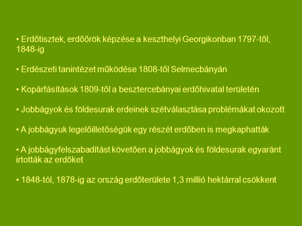 Erdőtisztek, erdőőrök képzése a keszthelyi Georgikonban 1797-től, 1848-ig