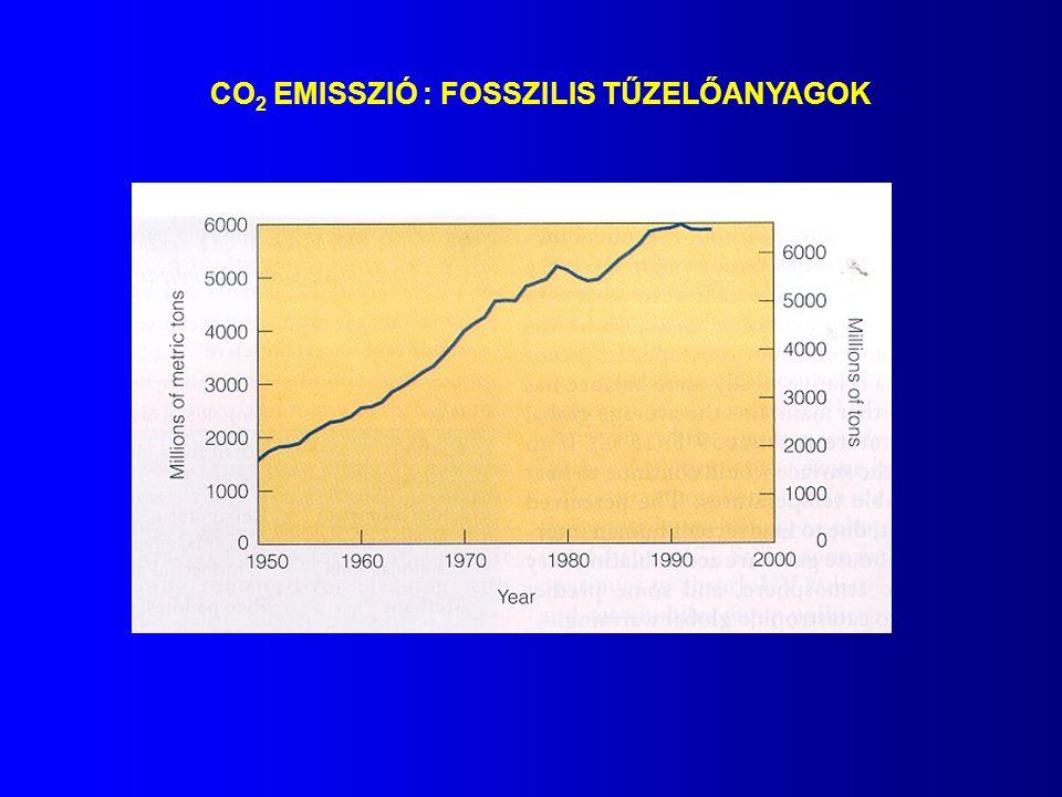 CO2 EMISSZIÓ : FOSSZILIS TŰZELŐANYAGOK