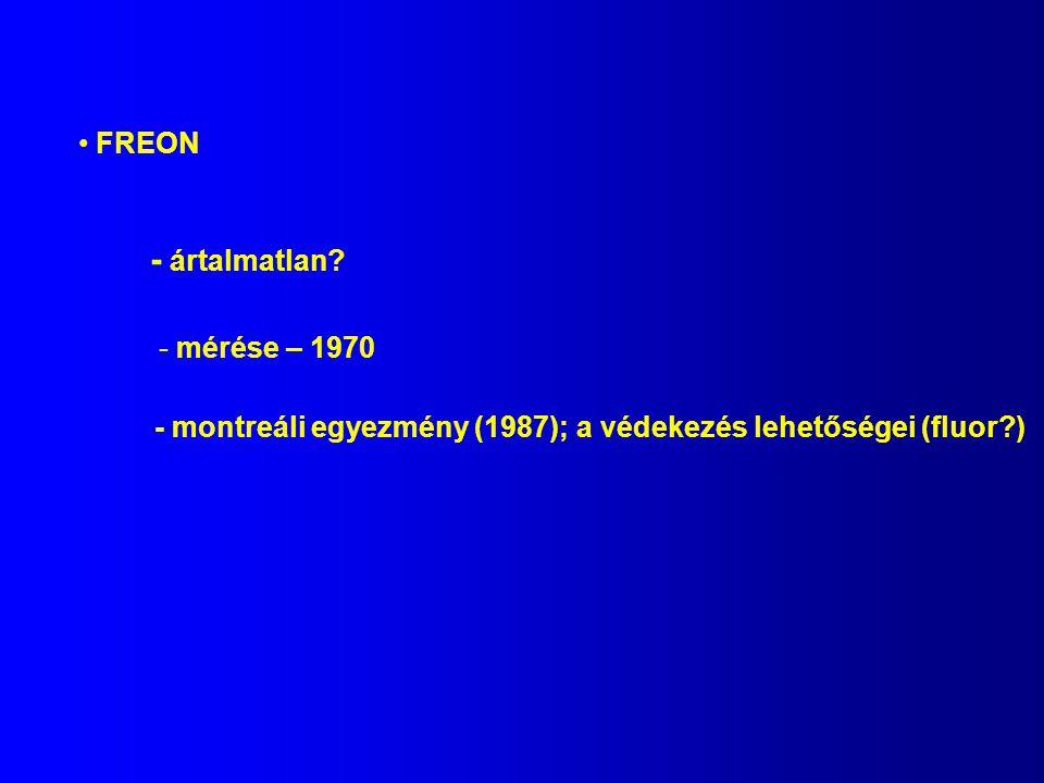 - ártalmatlan FREON mérése – 1970
