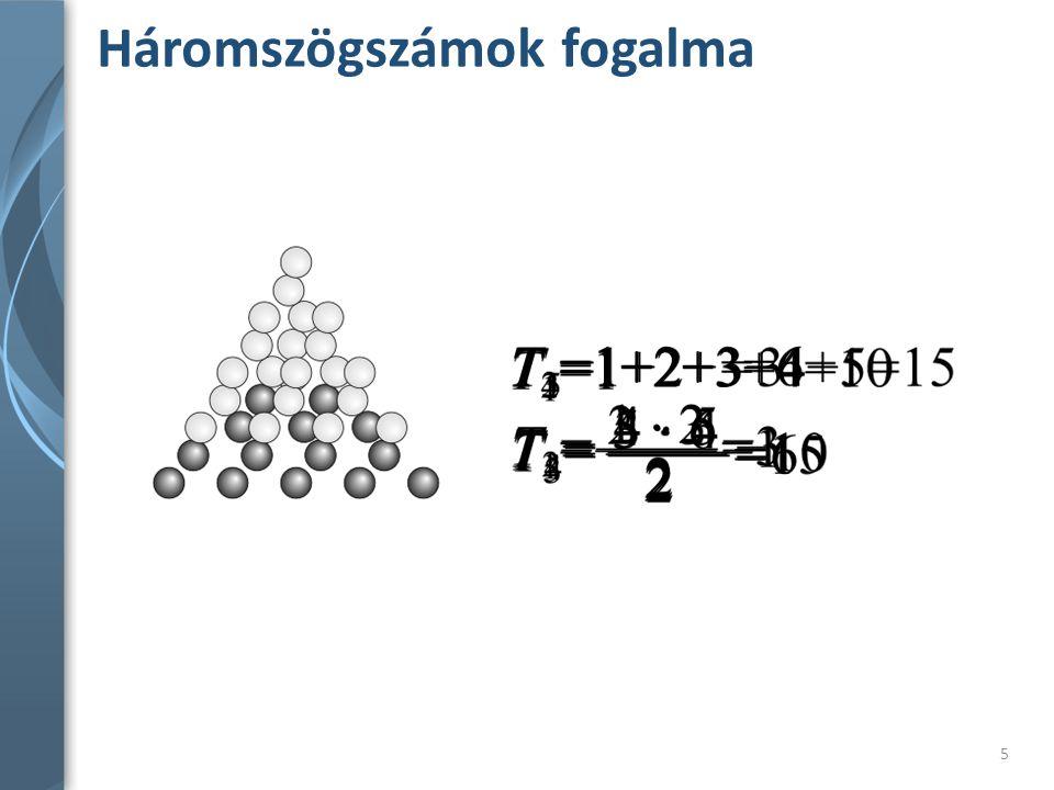Háromszögszámok fogalma
