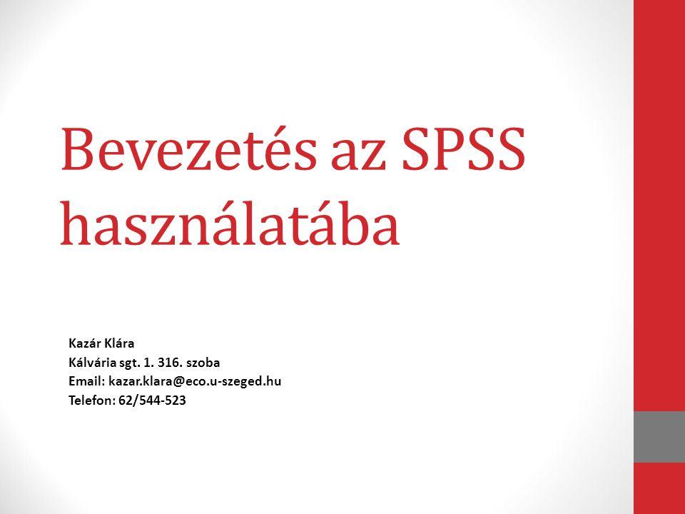Bevezetés az SPSS használatába