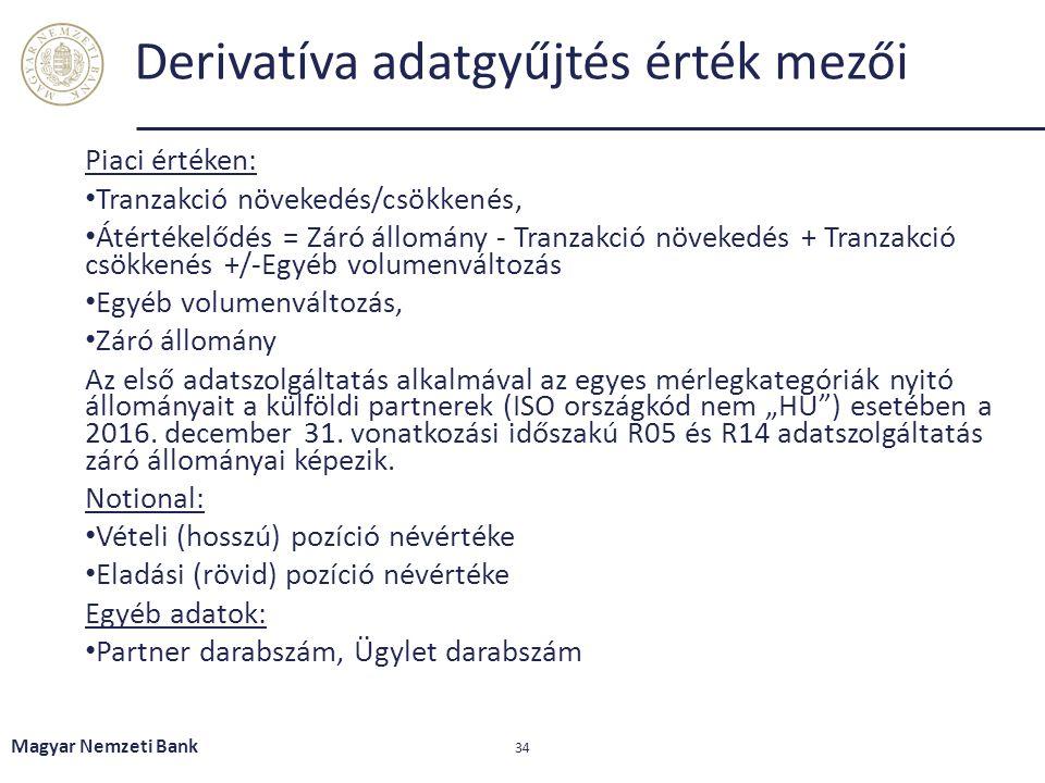Derivatíva adatgyűjtés érték mezői