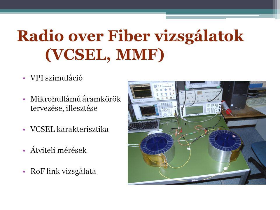 Radio over Fiber vizsgálatok (VCSEL, MMF)