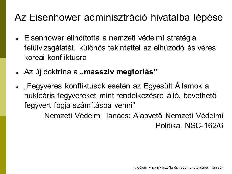 Az Eisenhower adminisztráció hivatalba lépése