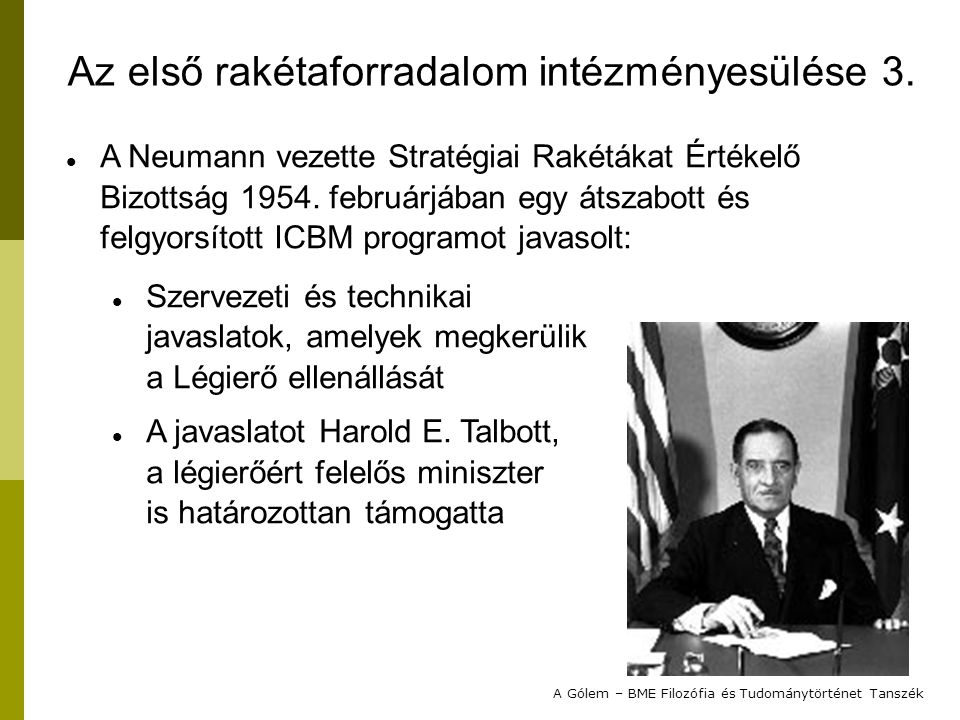 Az első rakétaforradalom intézményesülése 3.