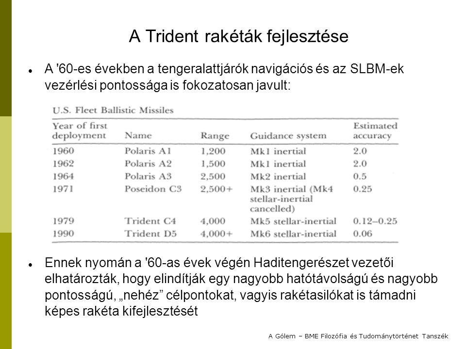 A Trident rakéták fejlesztése