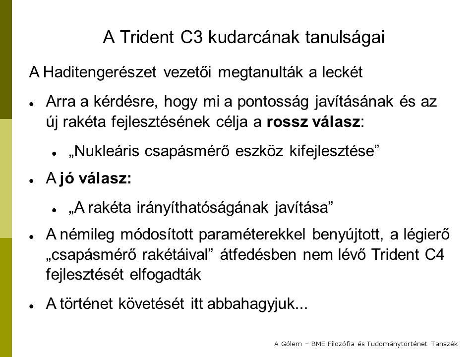 A Trident C3 kudarcának tanulságai