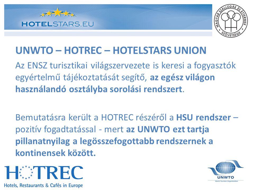 UNWTO – HOTREC – HOTELSTARS UNION