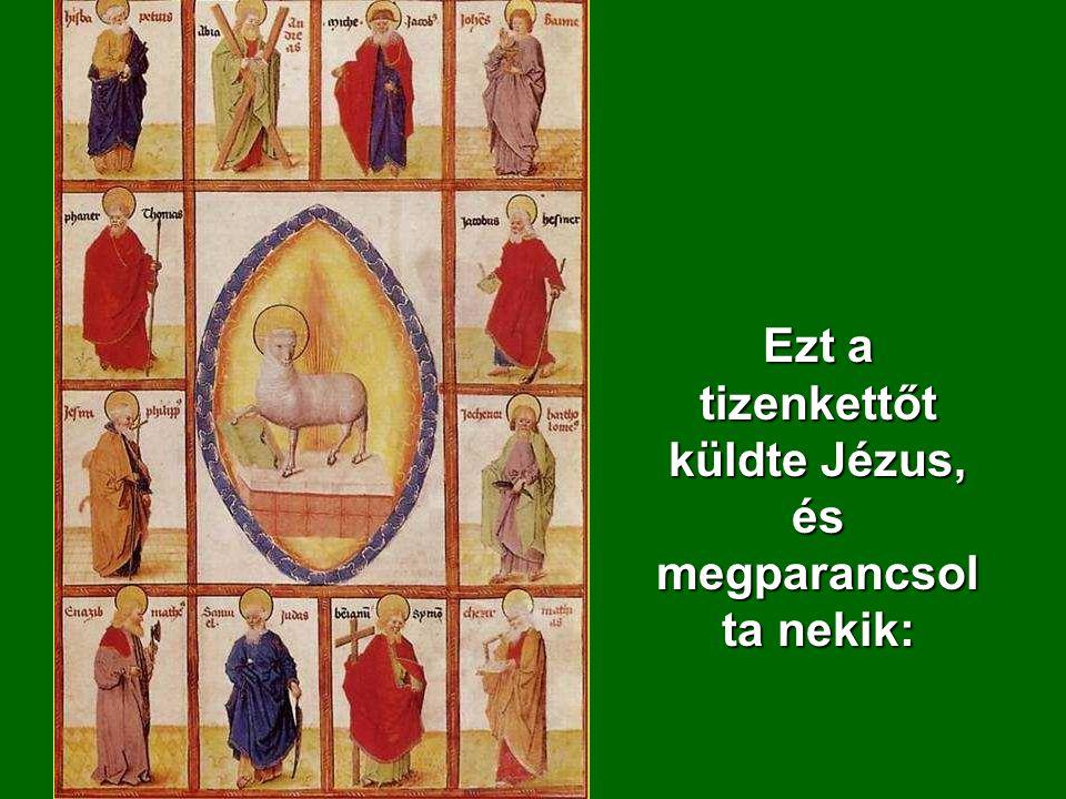 Ezt a tizenkettőt küldte Jézus, és megparancsolta nekik: