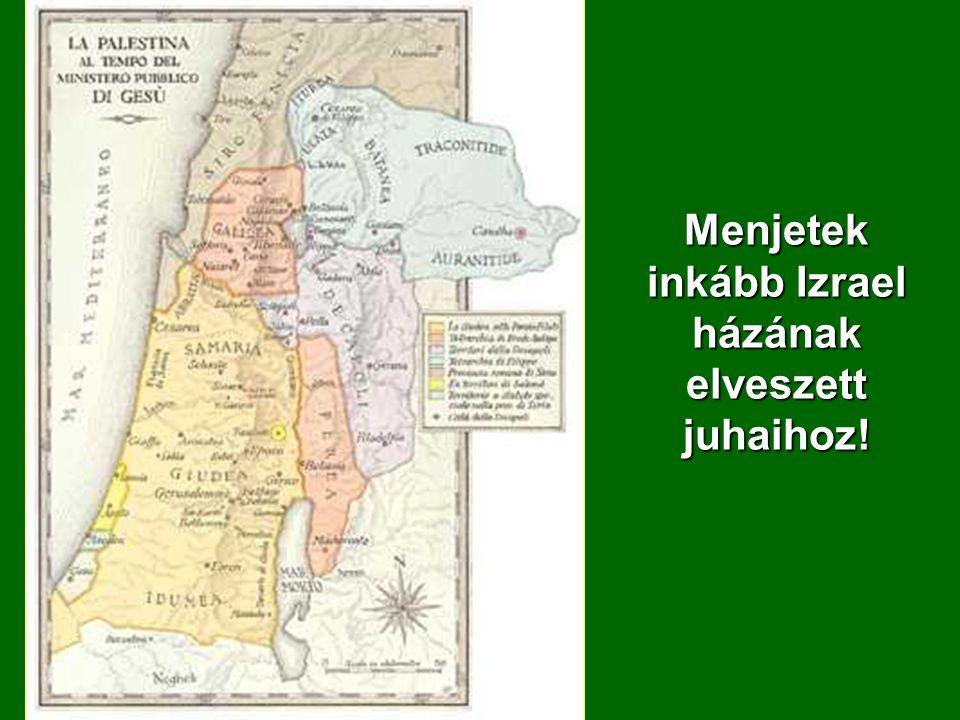 Menjetek inkább Izrael házának elveszett juhaihoz!