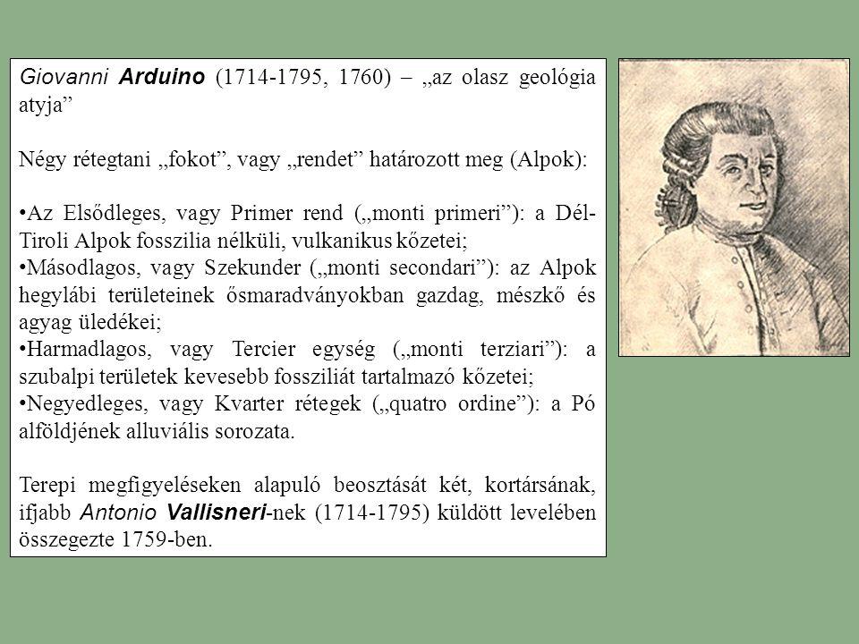 """Giovanni Arduino (1714-1795, 1760) – """"az olasz geológia atyja"""