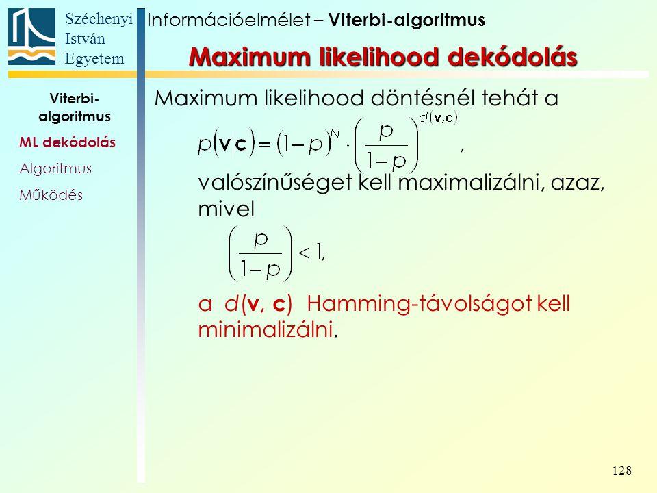 Maximum likelihood dekódolás