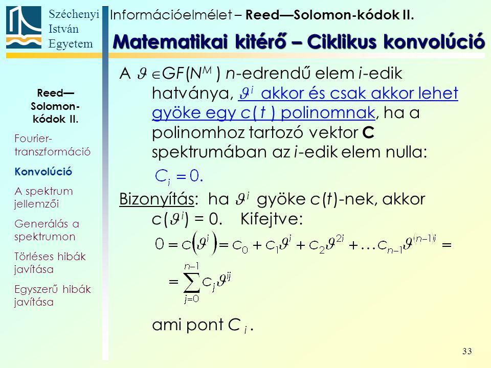Matematikai kitérő – Ciklikus konvolúció