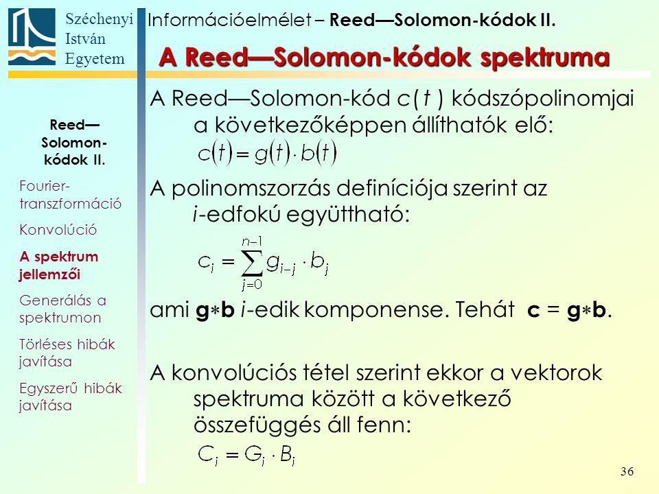 A Reed—Solomon-kódok spektruma
