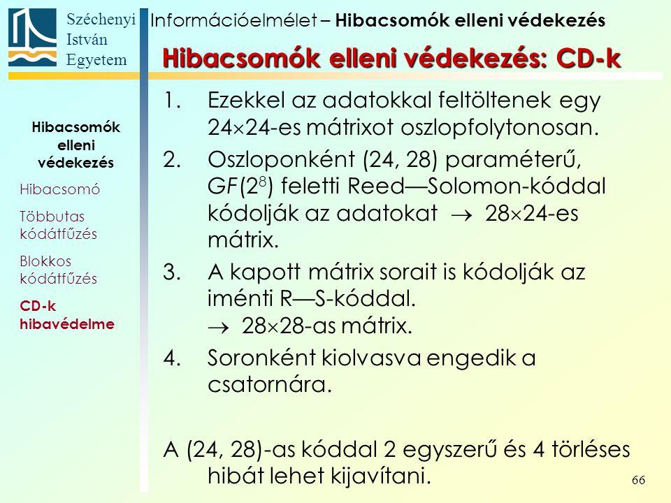 Hibacsomók elleni védekezés: CD-k