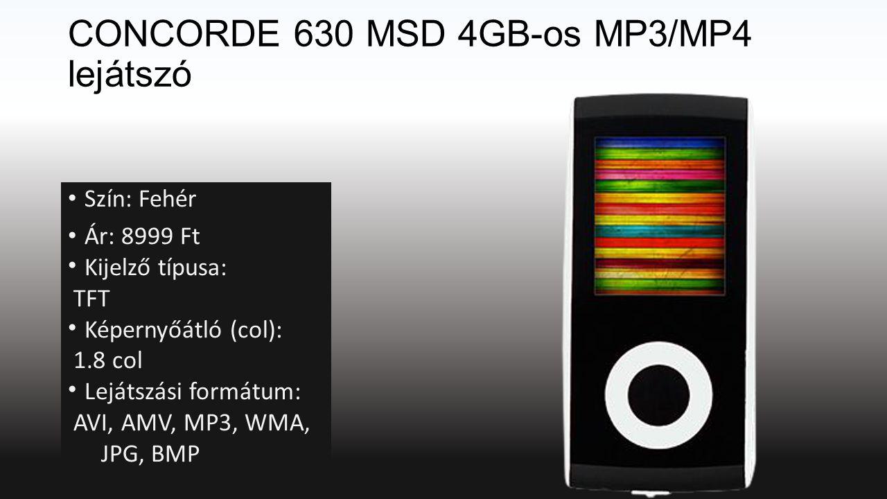 CONCORDE 630 MSD 4GB-os MP3/MP4 lejátszó