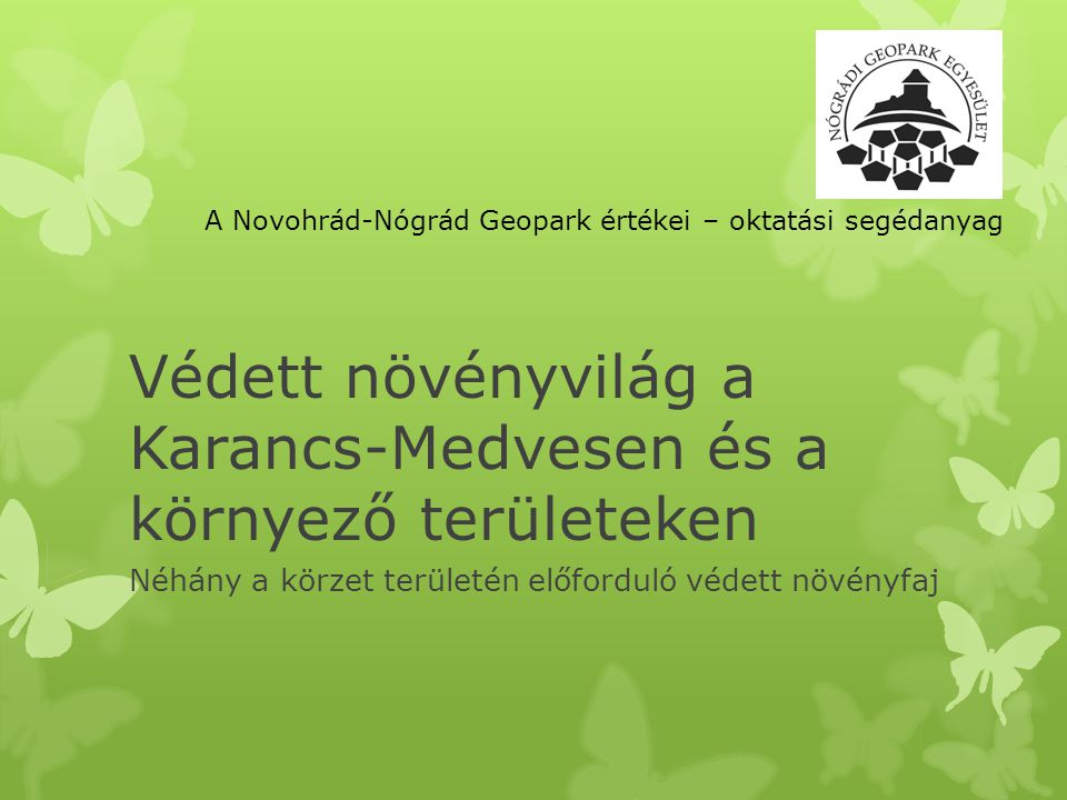 Védett növényvilág a Karancs-Medvesen és a környező területeken