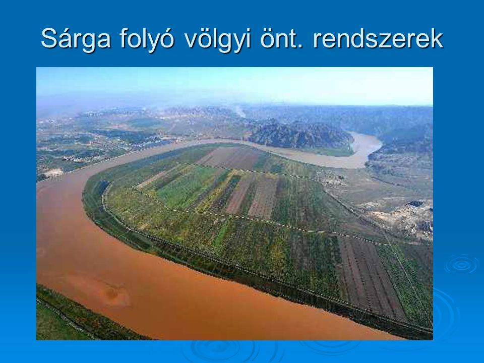 Sárga folyó völgyi önt. rendszerek