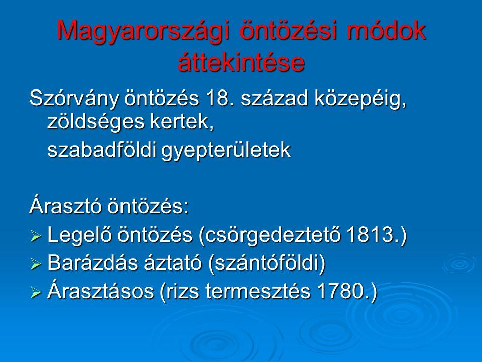 Magyarországi öntözési módok áttekintése