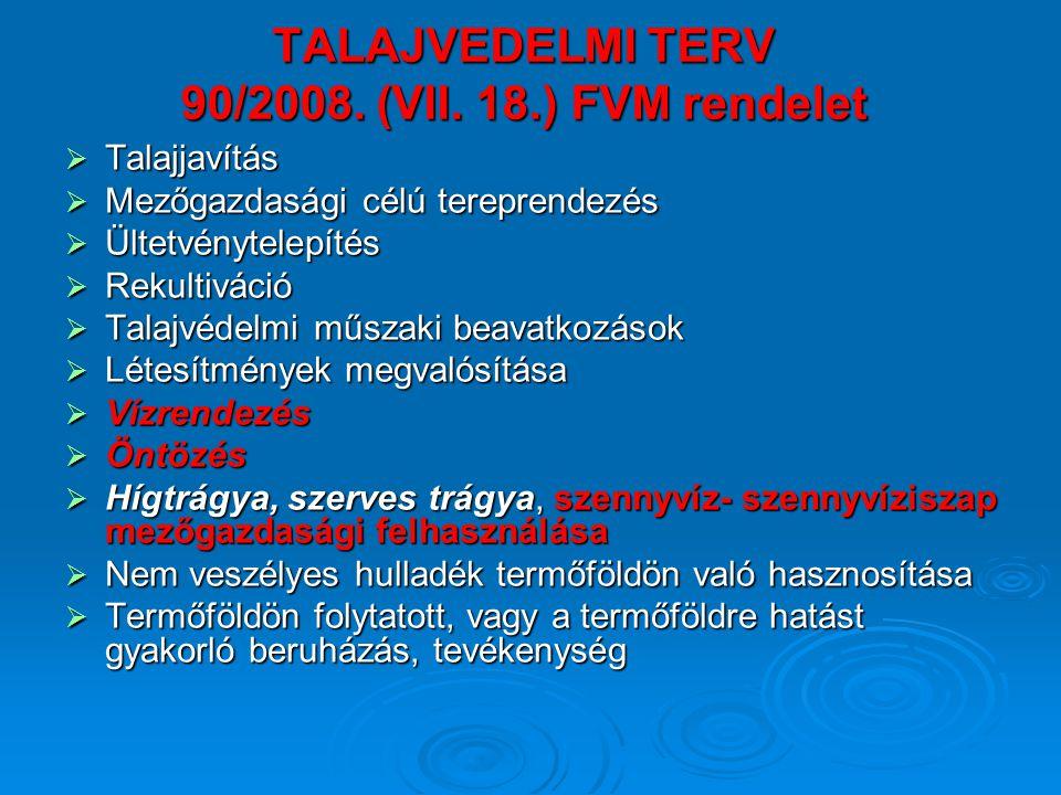 TALAJVEDELMI TERV 90/2008. (VII. 18.) FVM rendelet