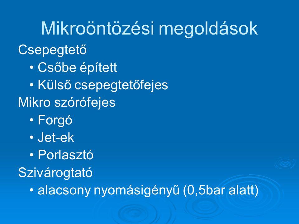 Mikroöntözési megoldások