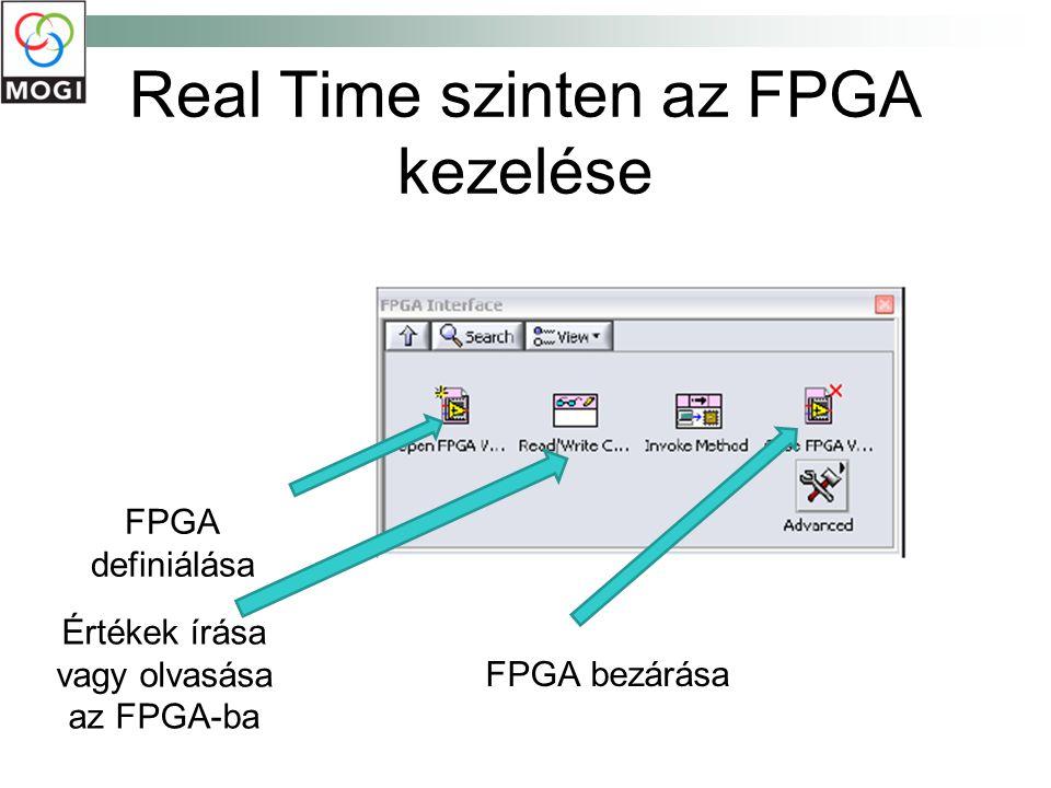 Real Time szinten az FPGA kezelése