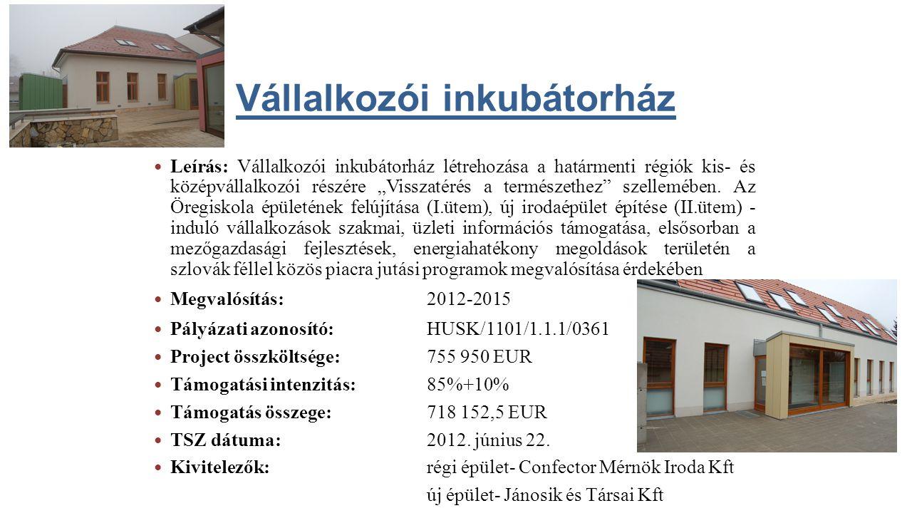 Vállalkozói inkubátorház